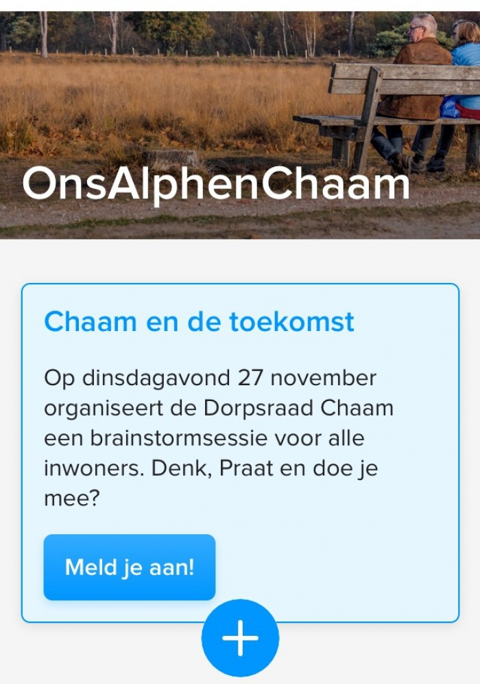 Nieuwe mogelijkheid op 'OnsAlphenChaam'
