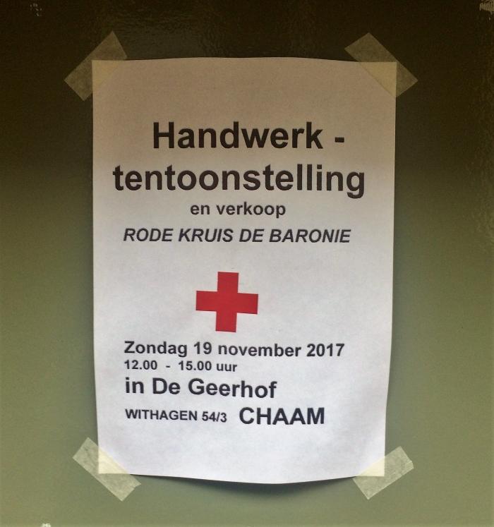 Handwerktentoonstelling en verkoop zondag 19 november