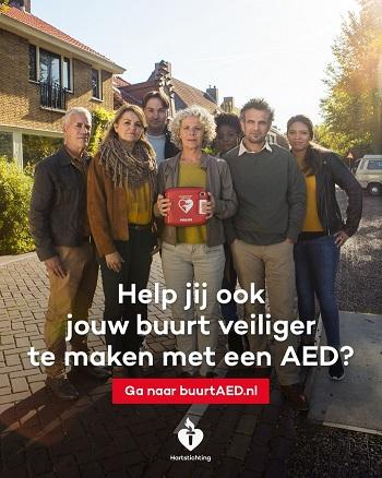 Oproep van de hartstichting: help mee voor de buurt AED!
