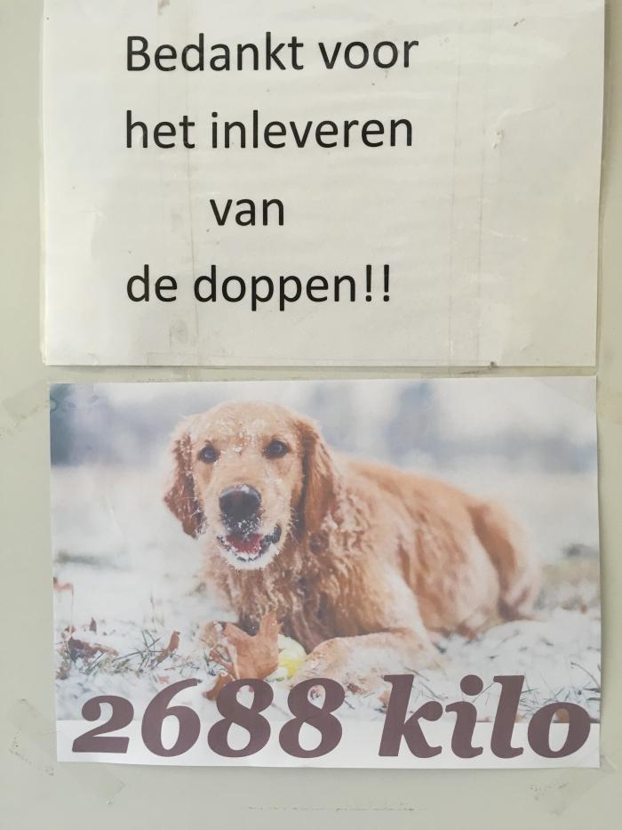 Plastic doppen actie gaat maar door………..