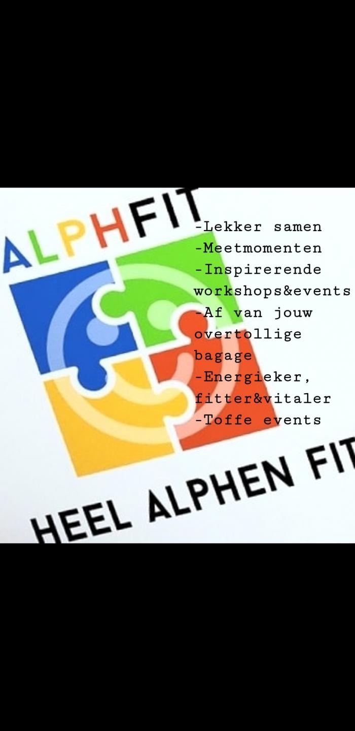 Alphfit -héél Alphen fit- (en natuurlijk mag je ook aansluiten als je buiten Alphen woont!)?.